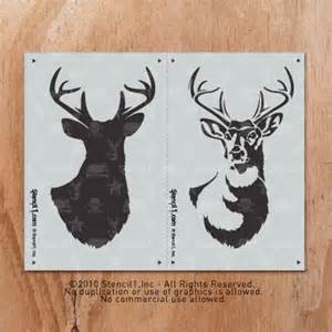 Paint Rollers With Patterns antlered deer 2 layer stencil1