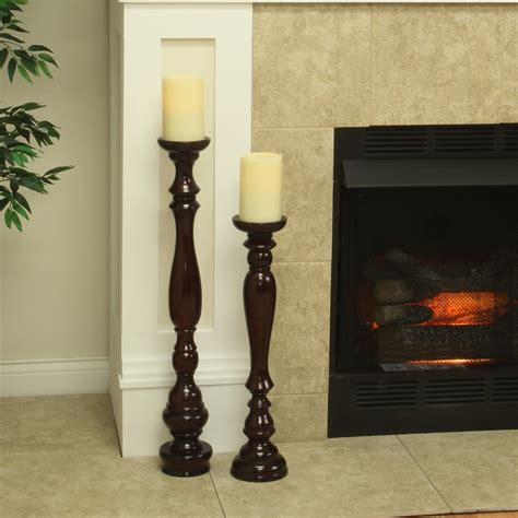 Wooden Candle Stand Hartford Wooden Flameless Candle Stand With Candle
