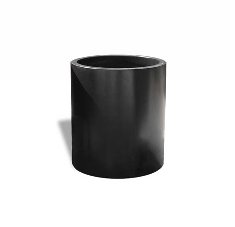 modern black fiberglass planter 18 quot