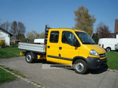 opel movano 2008 opel movano doka 2008 stake body truck photo and specs