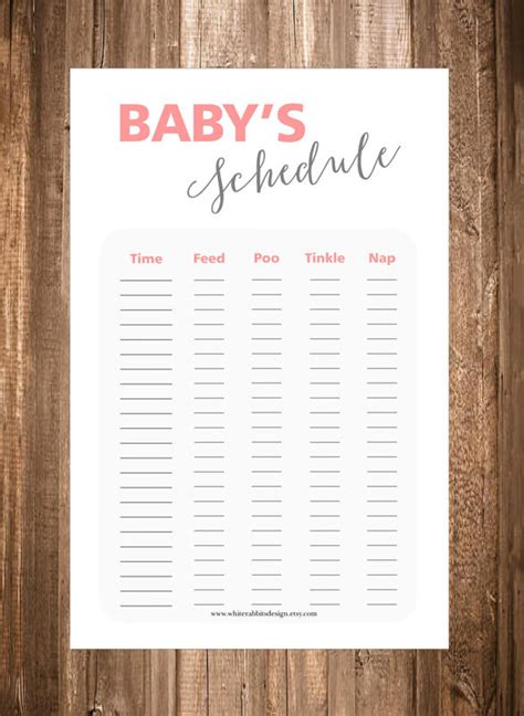 baby schedule templates   psd  premium