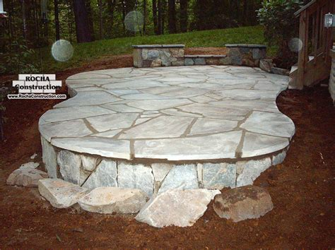 stone patio flagstone patios rocha construction silver spring md
