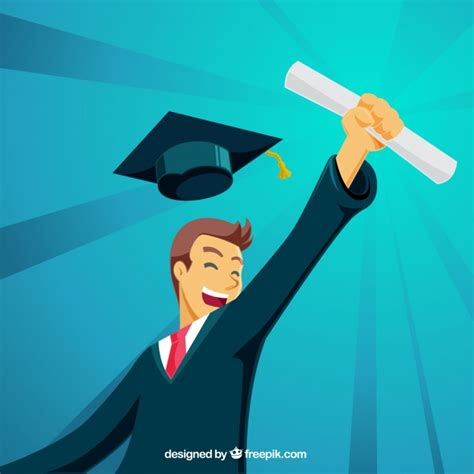 Mba Graduation Picturesbackground by Graduation Background With Happy Student Vector Free