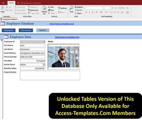 Microsoft Access Templates Employee Scheduling Database For Access 2016 Access 2016 Microsoft Access Template For Employee Database