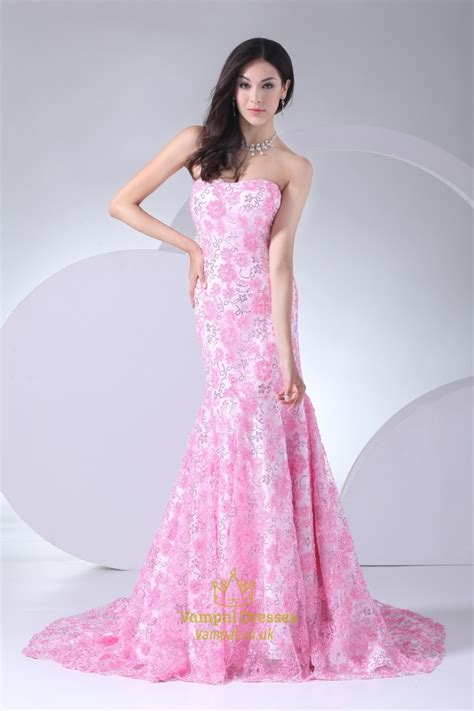 Wedding Dresses Pink by Pink Wedding Dress With Pink Floral Mermaid