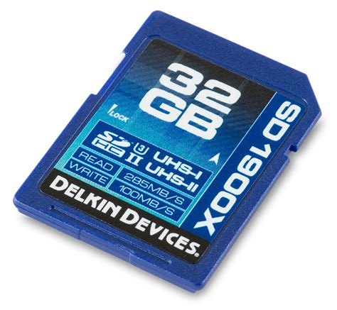 Sd Card Sdhc 32 Gb Uhs Ii U3 280 Mb S Hyper Evo V Dd224 delkin 1900x uhs ii u3 32gb sdhc memory card review read and write speed memory speed