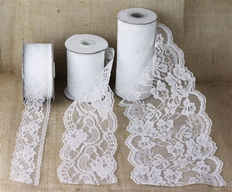 Ribbon Lace by Lace Ribbon Burlapfabric Burlap For Wedding And