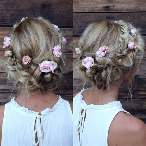 formal hairstyles with flowers braided prom hairstyles for 2016 22 prom pinterest