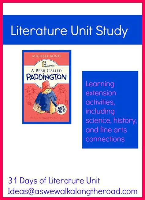 themes for literature units literature unit study for a bear called paddington 31