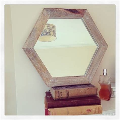 Country Home Decor Signs by Wooden Hexagon Wall Mirror