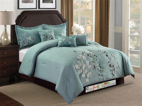 spring comforter sets 7 pc embroidery wild spring flower pinnate comforter set
