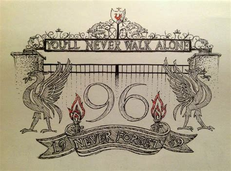 liverpool fc tattoo designs 242 best 96 will always be remembered images on