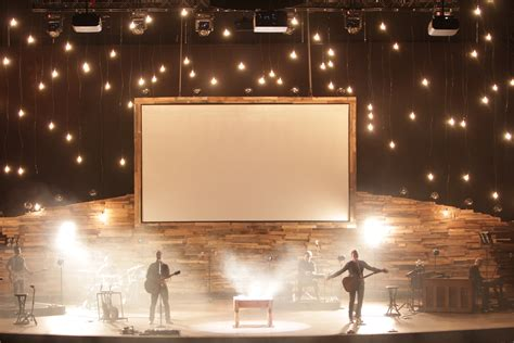 mountains and church stage design ideas