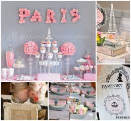 parisian baby shower inspiration board