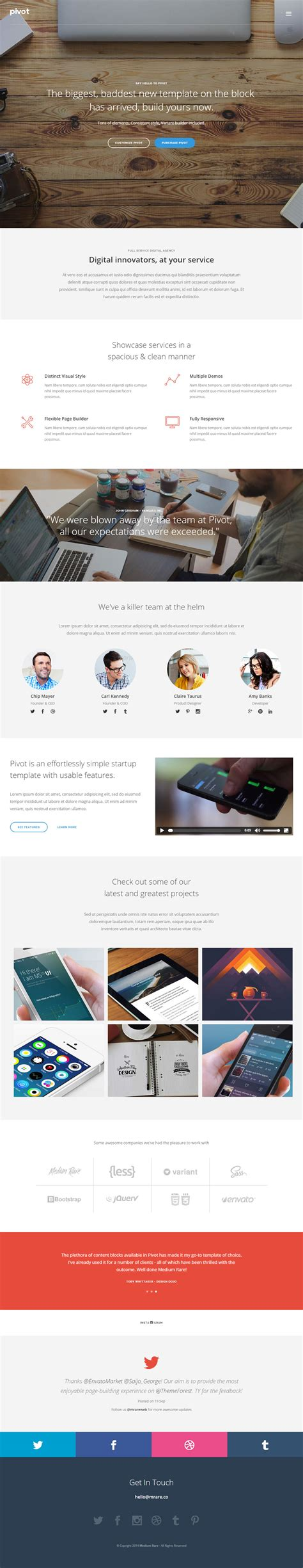 65 best responsive one page html5 templates 2014