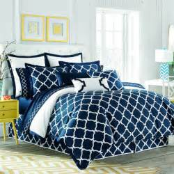Chevron Duvet Cover King Shop Jill Rosenwald Hampton Links White Amp Navy Bed Linens