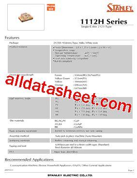 pdt stanley pg1112h tr datasheet pdf stanley electric co ltd