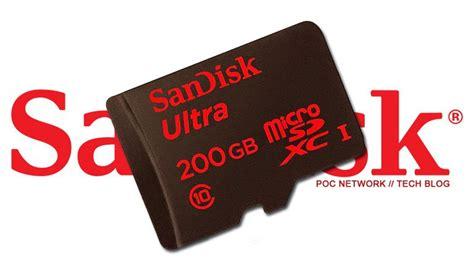 Micro Sd Sandisk Kelas 10 sandisk y su nueva microsd de 200 gb