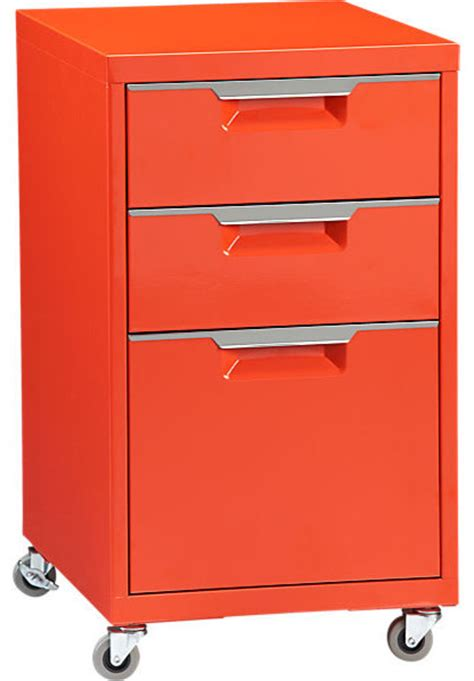 Modern File Cabinet Tps Bright Orange File Cabinet Modern Filing Cabinets By Cb2
