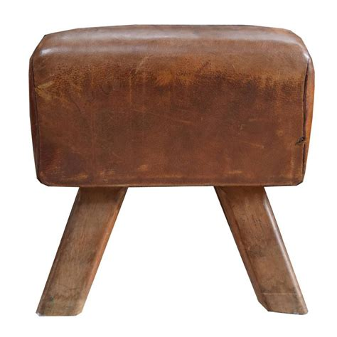 leather and wood bench wood and leather pommel horse bench for sale at 1stdibs