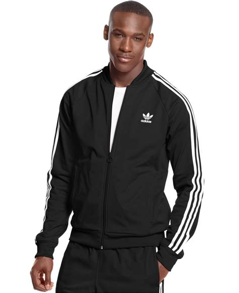 Jaket Tracker Adidas by Adidas Originals Superstar Track Jacket In Black For