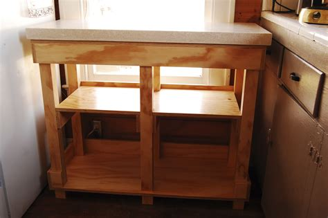 plywood kitchen islands with concrete countertops