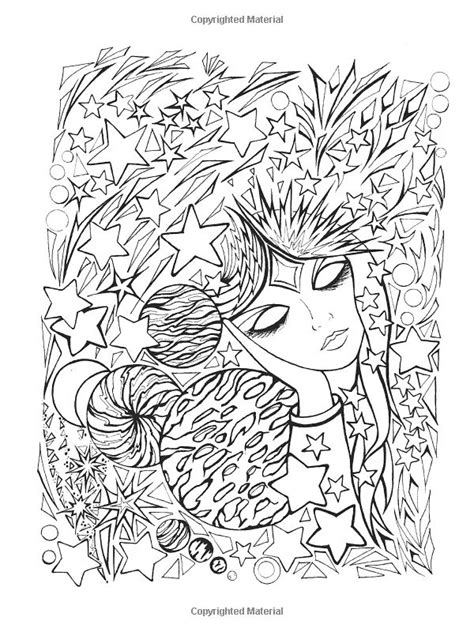 anti stress colouring book for adults 9 best images about fanciful faces coloring for adults