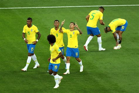 paulinho and gabriel jesus photos photos brazil vs