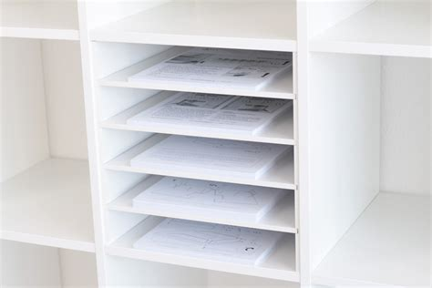 ikea shelf inserts p o box shelf insert for ikea kallax shelf white