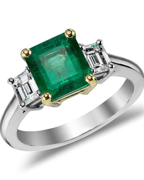 emerald engagement rings for a one of a