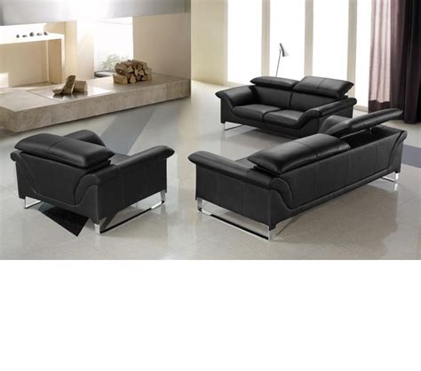 Divani Leather Sofa Dreamfurniture Divani Casa Elite Modern Leather Sofa Set
