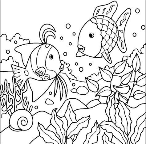 fish habitat coloring pages ausmalbilder malvorlagen der regenbogenfisch kostenlos