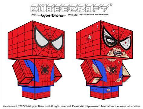 Spider Papercraft - cubeecraft spider by cyberdrone on deviantart