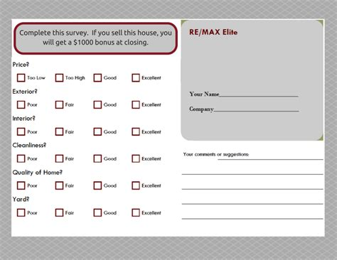 feedback request template cards feedback open house feedback form ideas open house
