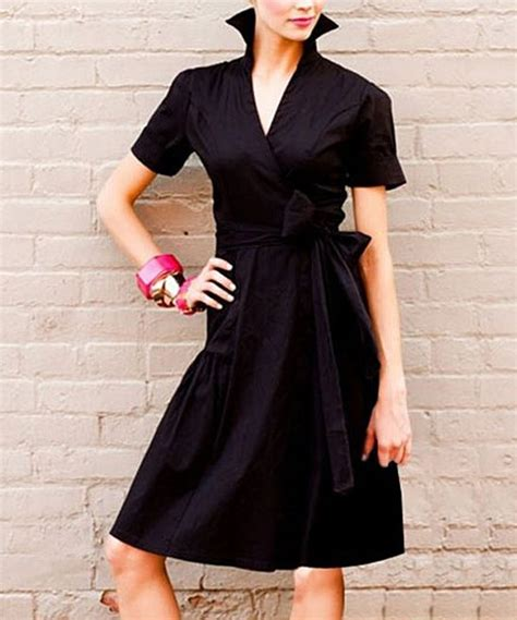 black sleek shadow wrap dress shabby apple stylin and profilin pinterest wrap dresses