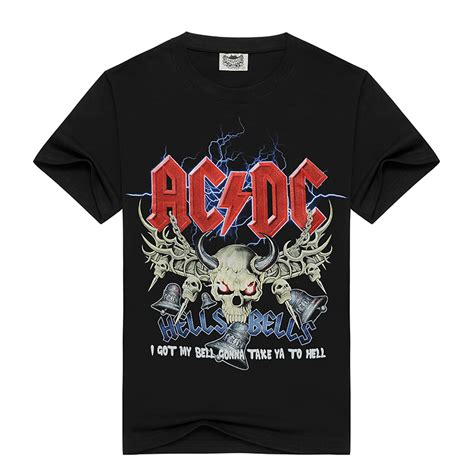 Kaos Band In Cains Tshirt Code 15 Novelty Design T Shirt 3d Ac Dc Bell Skull Chain Acdc