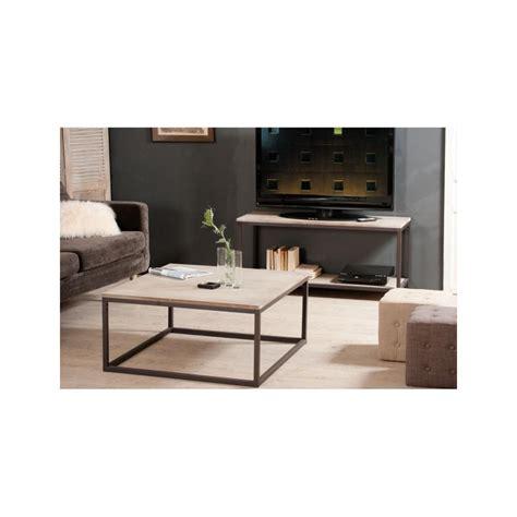 Charmant Fabriquer Table Basse Ronde #10: Table-basse-industrielle-carree-metal-et-bois-90x90x44-lali.jpg