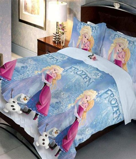 frozen bed sheets uber urban disney frozen blue double bedsheet with 2