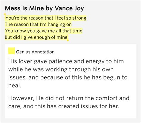 comfort and joy lyrics you re the reason that i feel so strong the mess is mine