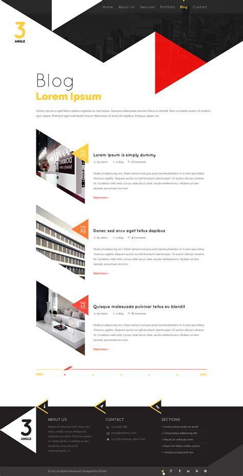 blog theme in themeforest 3angle agency creative html template by bigbangthemes