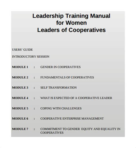 9 Sle Training Manual Templates Sle Templates Coaching Guide Template