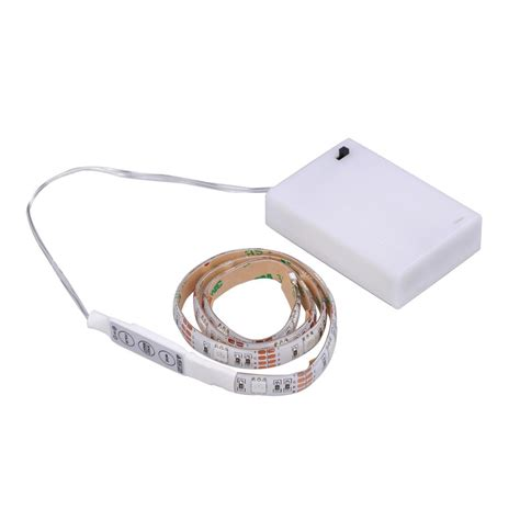 Battery Powered Led Light Strips Led Light Rgb 50cm 19 7in Battery Box Mini Controller Battery Powered Ebay