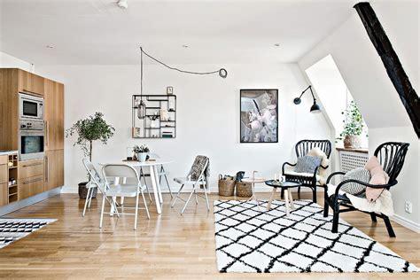 scandinavian home design ingenuity exhibited by small scandinavian apartment