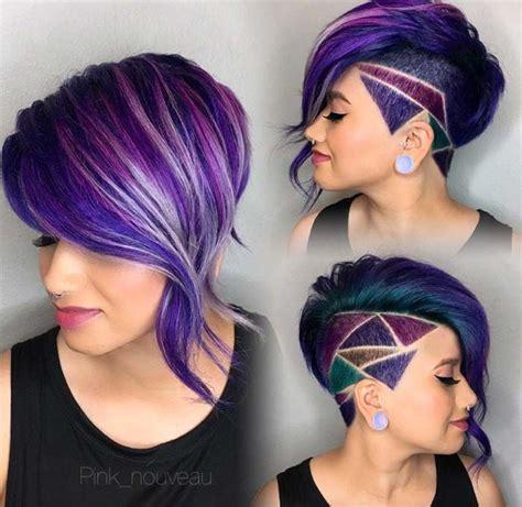 colorful short hair styles best 25 short purple hair ideas on pinterest crazy