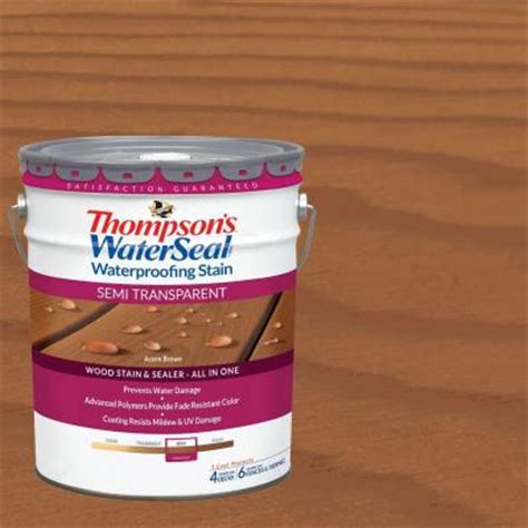 thompson water seal colors thompson s waterseal 5 gal semi transparent acorn brown