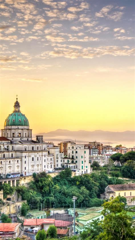 wallpaper italy naples napoli city sky clouds hotel