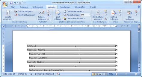 Word Vorlage Hinterlegen Inhaltsverzeichnis Erstellen Abfallprodukt Der Formatvorlagen