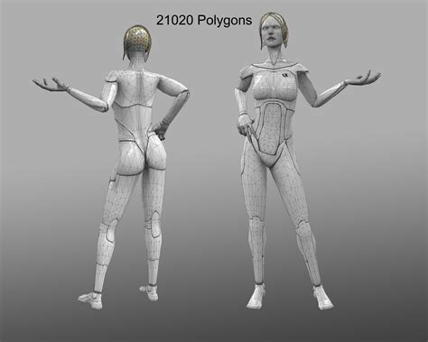 human android human android 3d model ready rigged obj fbx cgtrader