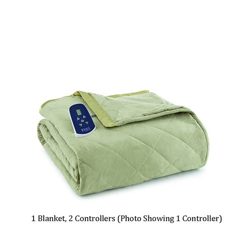 heated comforter shavel micro flannel queen heated comforter blanket ebqnmdw