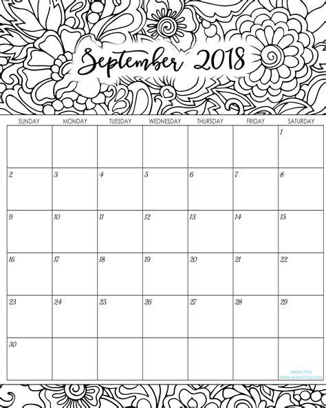 color calendar calendar coloring pages 2018 coloring pages ideas